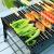 特司羅ミニグリル家庭用炭3-5人焼きストーブ厚手夏休みの時に持ち運びした屋外焼肉の焼き麩セットの道具BBQシガレット木炭のグリルのトランペットの鉄焼き網、手袋
