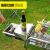 戸外家庭用【厚手のプラス幅】折りたたみオーブングリルグリルグリルオーブンスティンスチール携帯型グリルセット大型グリル16標準装備