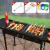 BBQピクニック用品グリル大きいサイズの屋外バーベキューグリル戸外折りたたみ厚手の炭携帯バーベキューグリルビジネスピクニック用の道具5人以上の家庭用焼肉棚セットの豪華な標準セット+20点セット