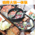 延長版で韓国風のオシドリ鍋を一つの鍋に分けて、家庭用電気フライパンと無煙焼炉をくっつけないでください。ピザ鍋と焼き肉機の鉄板焼き皿です。