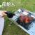 原始人の手で作ったブロー機の手回し焼き木炭ドライヤーのバーベキュー道具