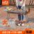 ブルーの宴会グリルグリルグリルグリルグリルスタンドアウトドア炭禁煙家用折りたたみ携帯5人以上のコース一(鉄条網炉+竹炭7本+アルコール2枚+8点セット)