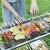 家庭用焼肉ラック木炭携帯炭火焼き+スティンスチール焼きネット+10点セット