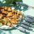 焼きだいスティン钢焼き道具焼き串焼き针が平打ちされたばかりの羊肉串焼肉のサインが6本入ります。