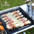 LARTISAN屋外バーベキューグリルグリルグリルグリル携帯スティンスチール折りたたみ家庭用野炊炭オーブンコースC:セットB+焼き皿+大置き棚(炭送り)