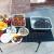 カヴァ図屋外の使い捨て焼き炉家庭用携帯型焼きグリル小型BBQ炭オーブン焼きストーブ